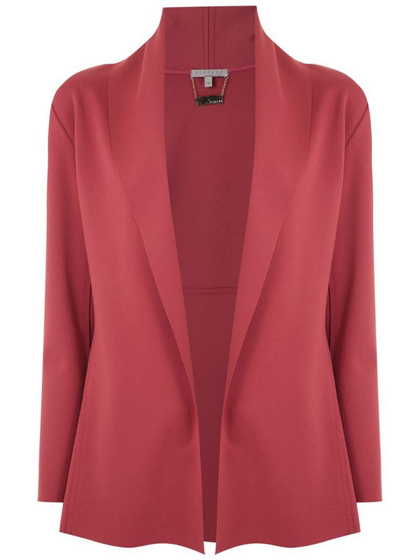 Alcaçuz open front Maritima blazer in red
