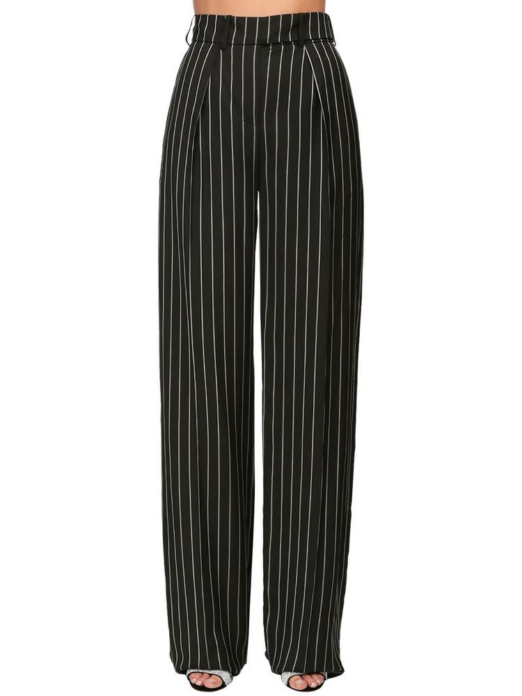 ALEXANDRE VAUTHIER Pinstripe Straight Leg Pants in black / white