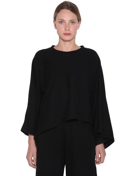 MM6 MAISON MARGIELA Cropped Sweat Cape in black