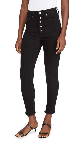 BB Dakota Late Riser High-Rise Jeans in black