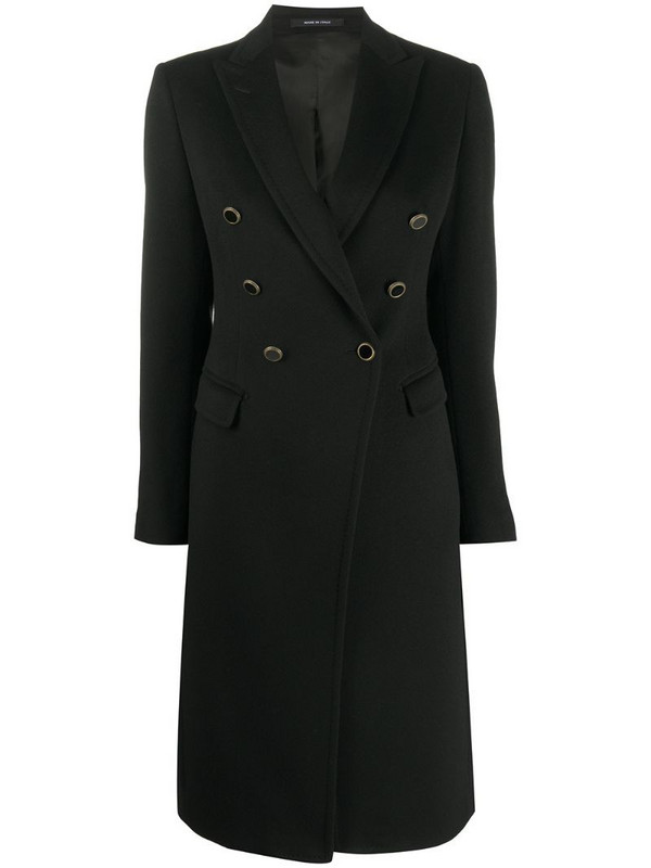 Tagliatore double-breasted coat in black