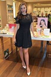 dress,mini dress,celebrity,little black dress,black dress,miranda kerr,model off-duty