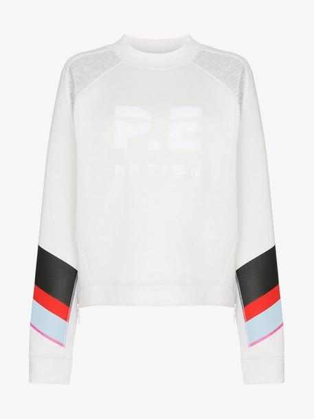 P.E Nation easy run two tone sweatshirt in white