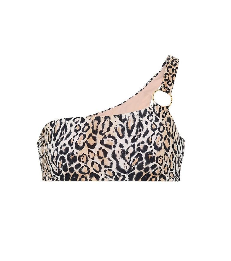 Melissa Odabash Majorca one-shoulder bikini top in brown