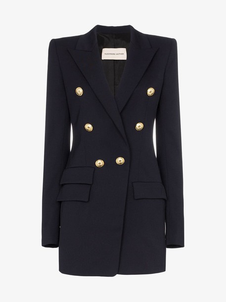 Alexandre Vauthier double-breasted wool blazer in navy