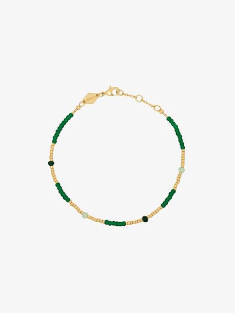 Anni Lu Green Clemence bead bracelet