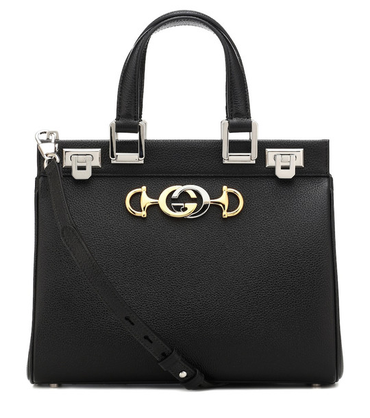 Gucci Zumi Small leather tote in black