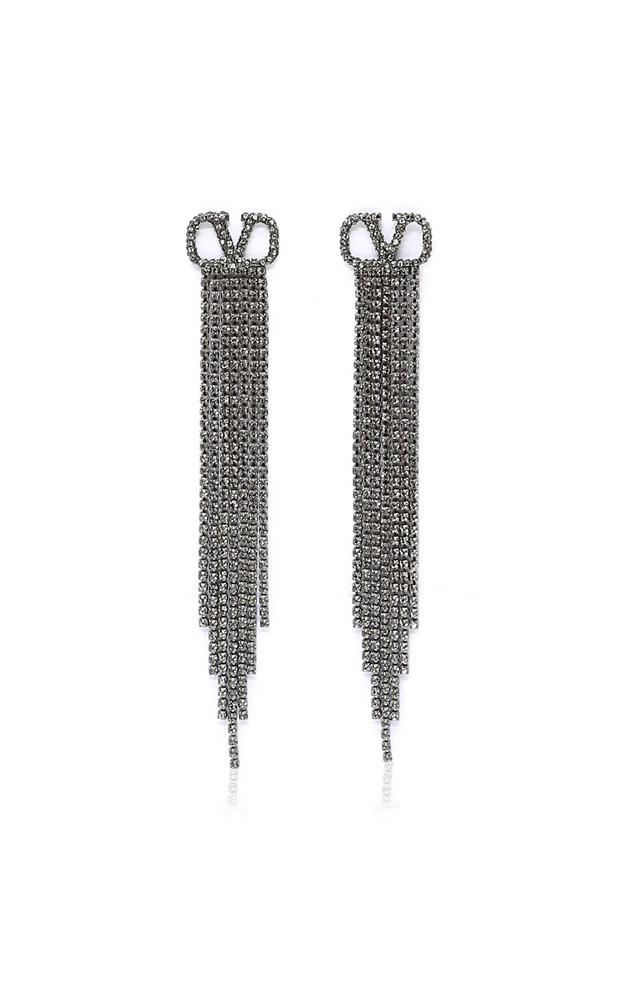 Valentino Valentino Garavani Silver-Tone And Crystal Earrings in gold