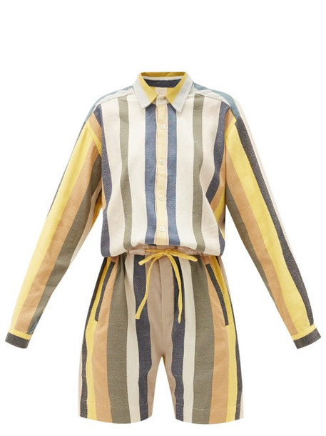 Marrakshi Life - Striped Cotton-blend Playsuit - Womens - Multi