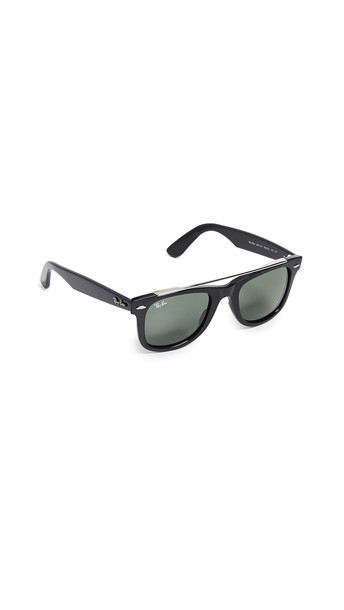 Ray-Ban Double Bridge Wayfarer Sunglasses in black