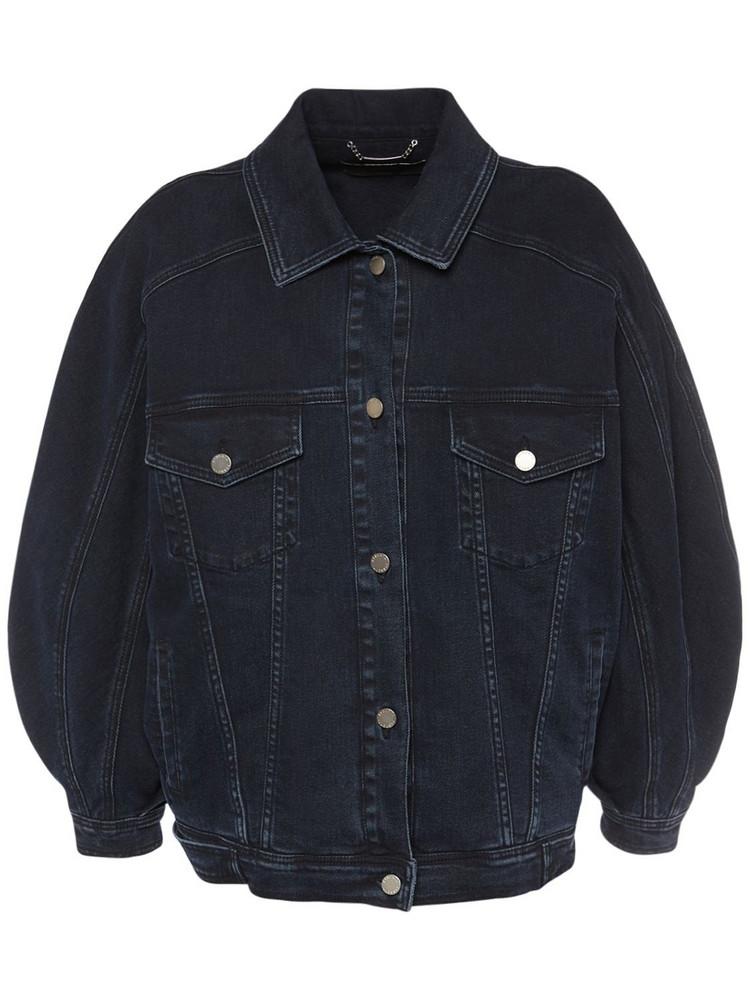 ALBERTA FERRETTI Cotton Denim Jacket in blue