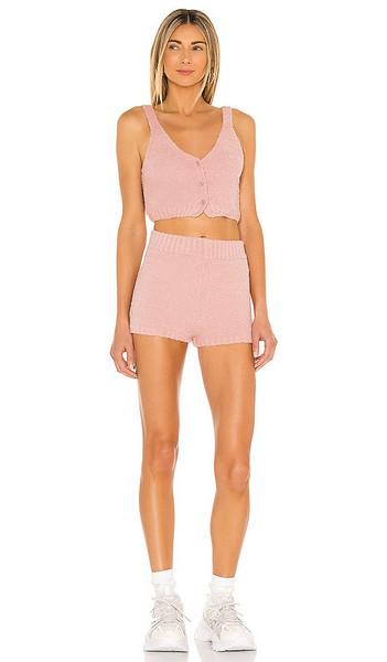 superdown Mischa Lounge Short Set in Blush in pink