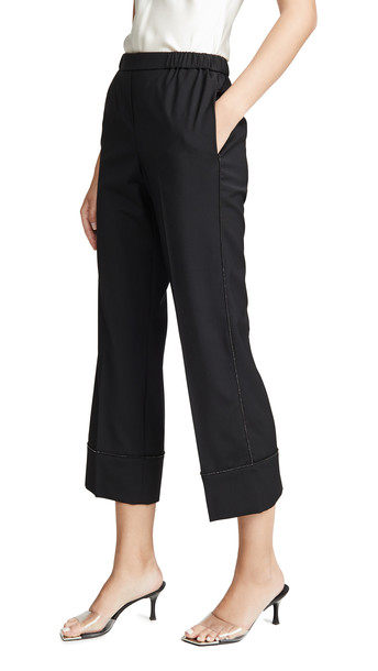 No. 21 Straight Leg Trousers in black