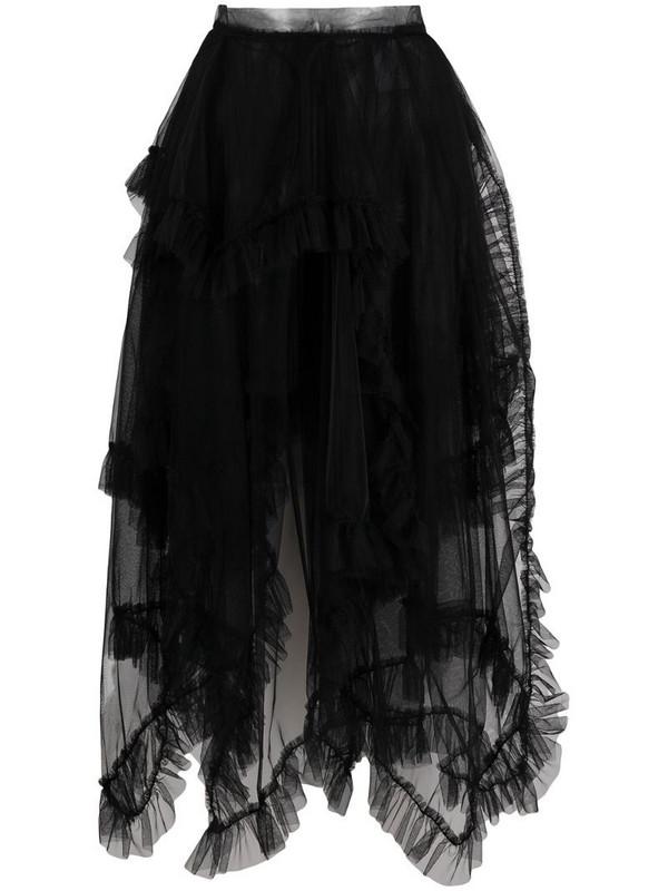 Act N°1 draped tulle skirt in black