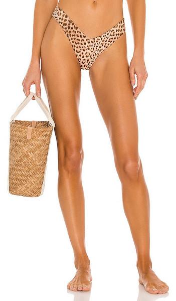 Monica Hansen Beachwear Babe Watch Bikini Bottom in Brown in leopard
