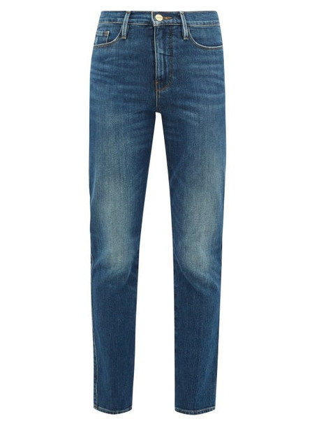 Frame - Le Sylvie Straight-leg Cropped Jeans - Womens - Blue