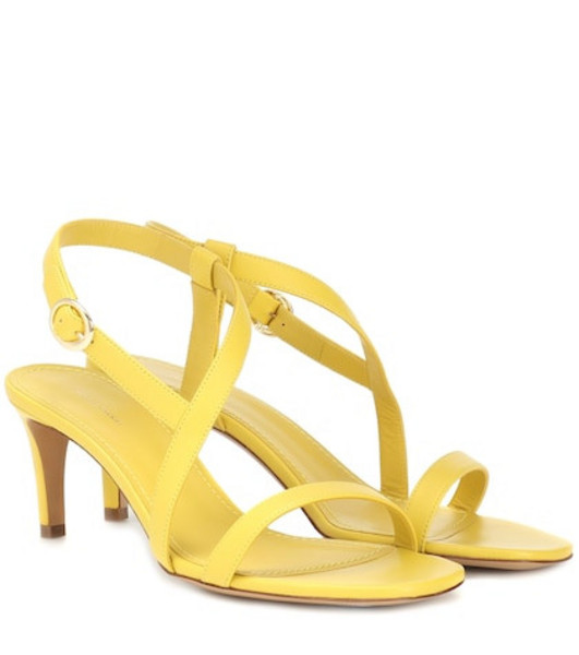 Mansur Gavriel Leather sandals in yellow