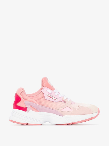 adidas pink Falcon ombré suede sneakers