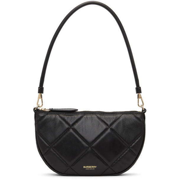 Burberry Black Quilted Mini Olympia Bag