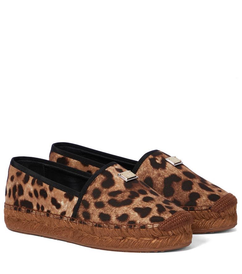 Dolce & Gabbana Leopard-print platform espadrilles in brown