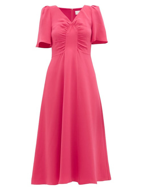 Goat - Rosemary Gathered Silk Dress - Womens - Pink