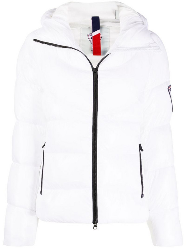 Rossignol Classic V quilted hooded jacket in white