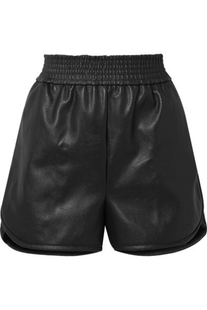 Wolford - Stella Faux Leather Shorts - Black