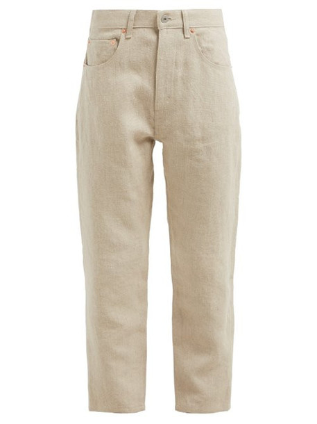Junya Watanabe - Straight Leg Linen Jeans - Womens - Beige