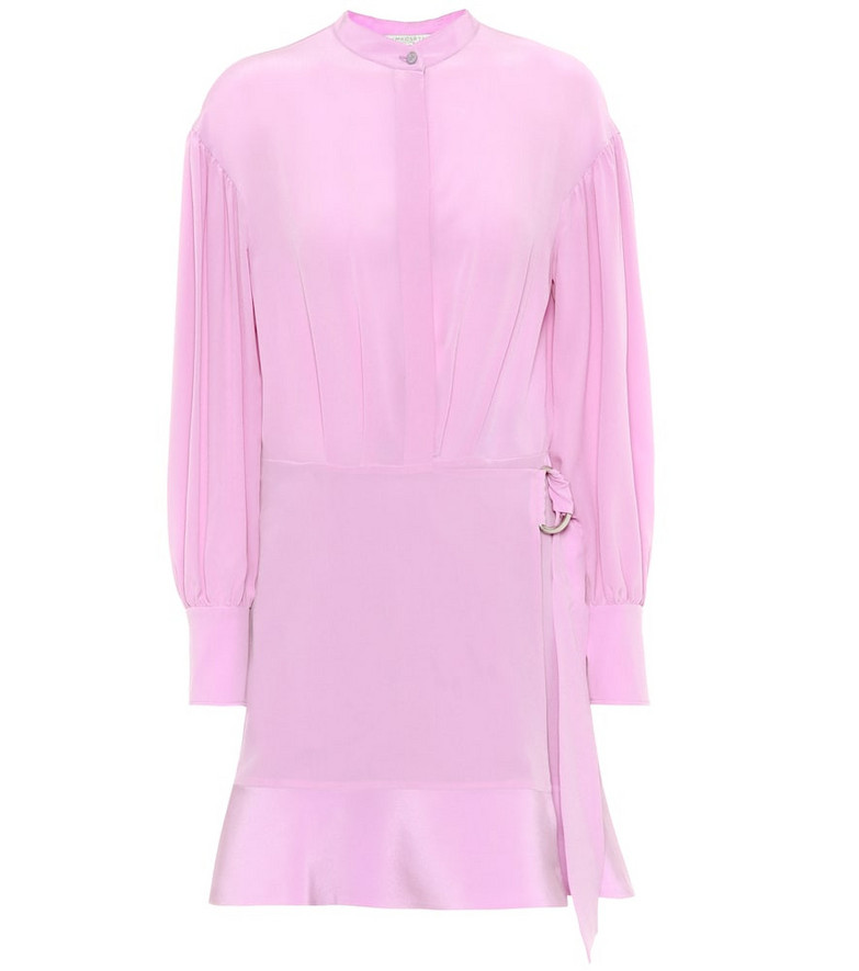 Stella McCartney Silk minidress in purple