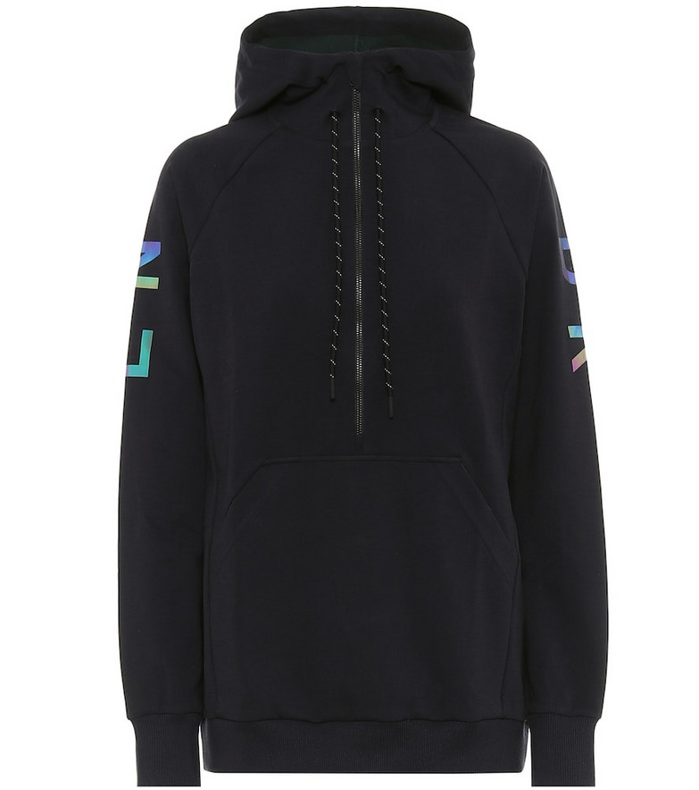 Lndr Saturn technical-jersey hoodie in black