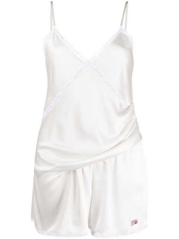 Alexander Wang draped playsuit all in one in white