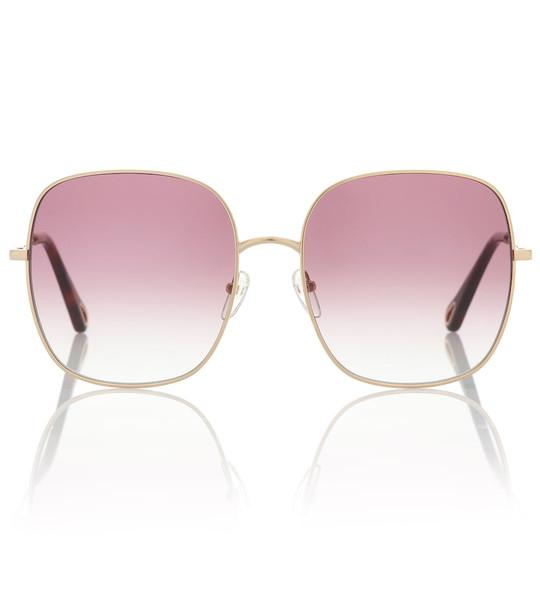 Chloé Oversized sunglasses in purple