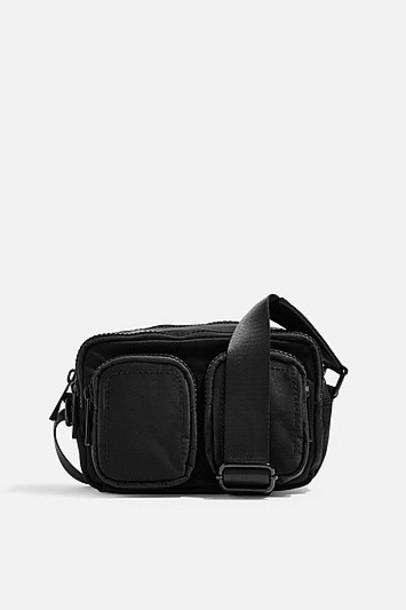 Topshop Stan Black Shoulder Bag - Black