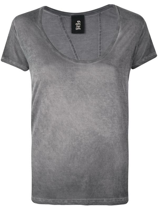 Thom Krom asymetric stitching T-shirt in grey