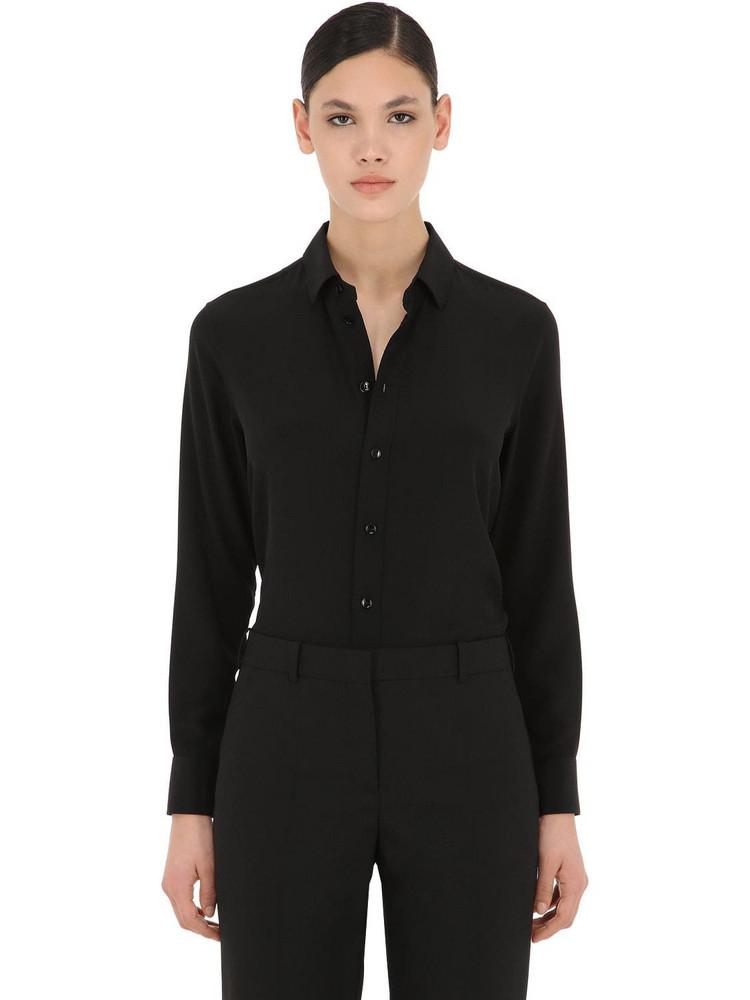 SAINT LAURENT Silk Crepe Shirt in black
