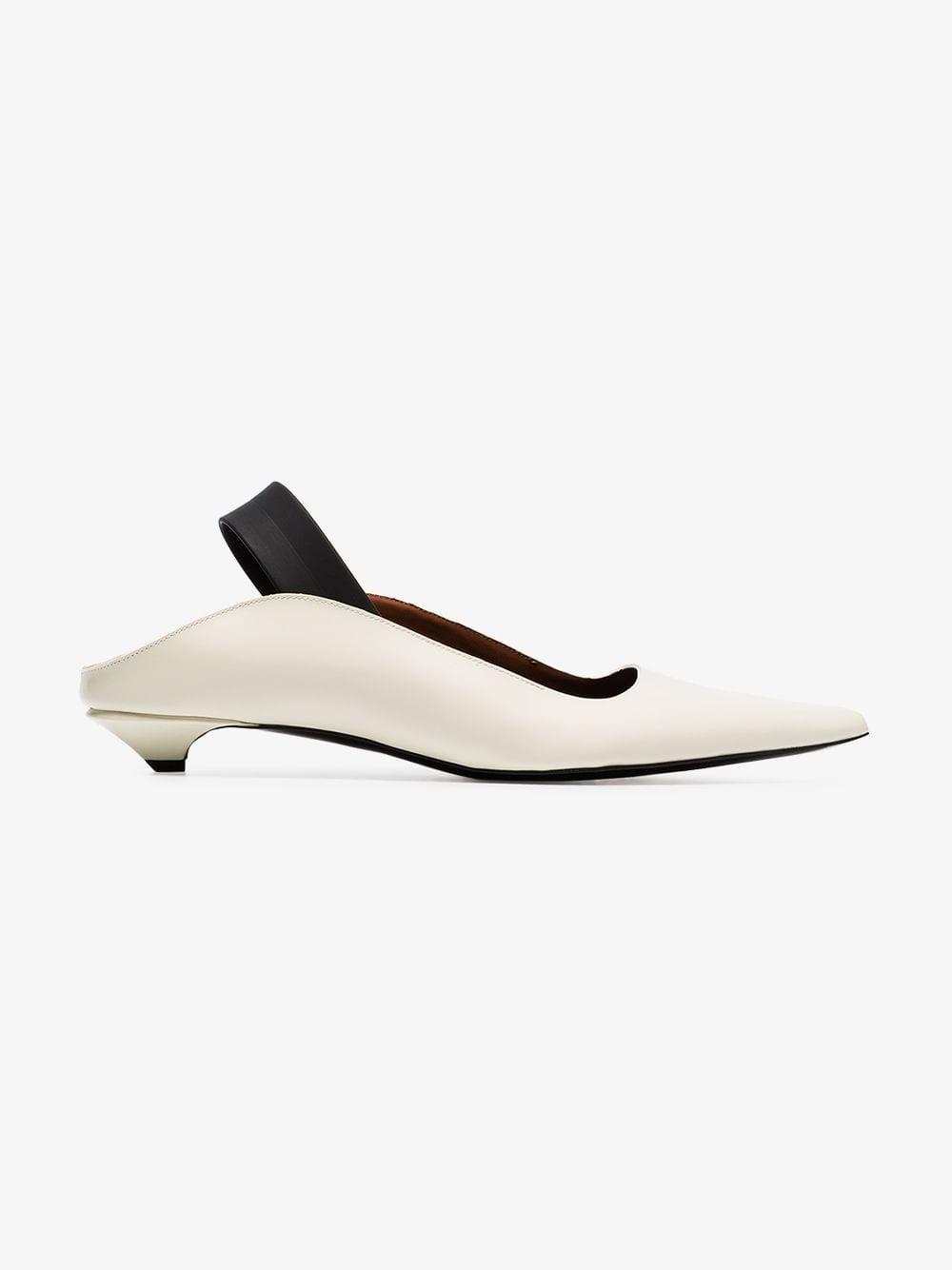 Proenza Schouler Slingback Pumps in white