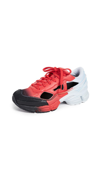 adidas x Raf Simons Replicant Ozweego Sneakers in black / blue / red