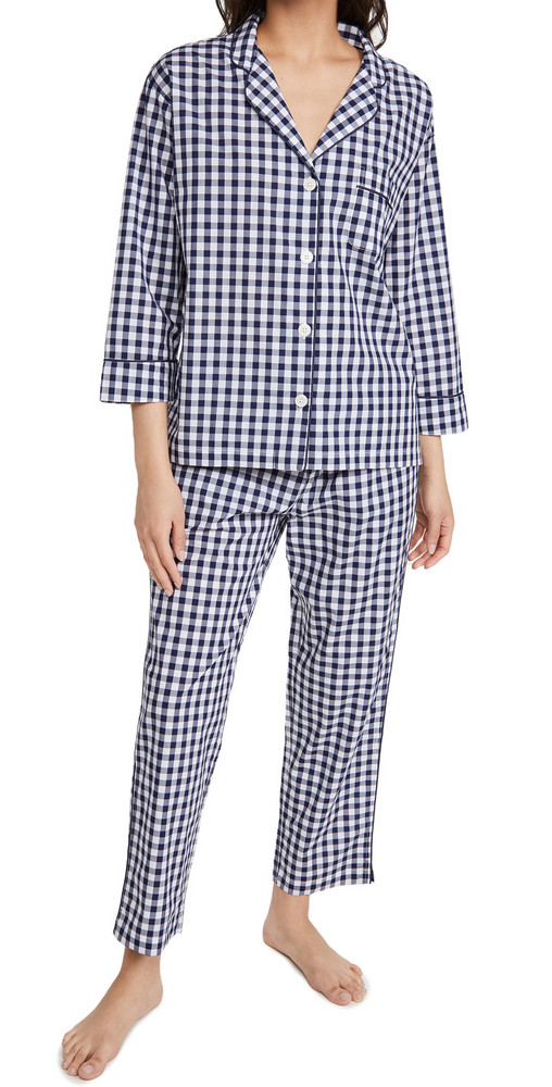 Sleepy Jones Marina Pajama Set in navy
