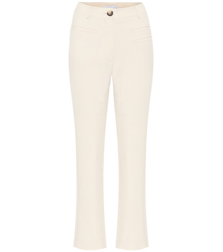 Rejina Pyo Finley high-rise canvas pants in white