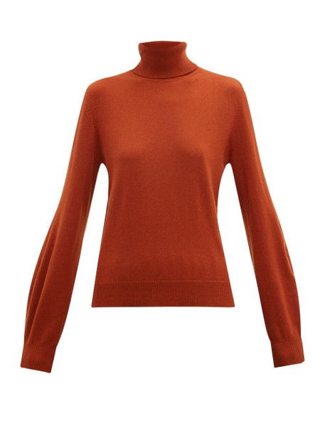 Chloé Chloé - Iconic Roll Neck Cashmere Sweater - Womens - Brown