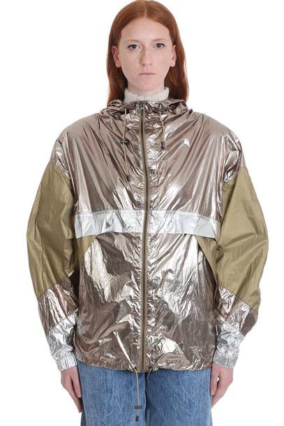 Isabel Marant Étoile Kizzya Casual Jacket In Khaki Polyamide