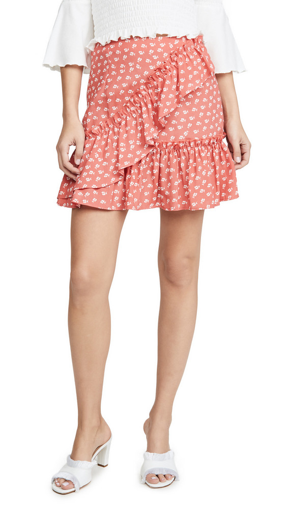 The Fifth Label Kaleidoscope Skirt in ivory / coral