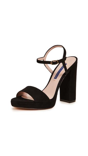 Stuart Weitzman Sunray Platform Sandals in black