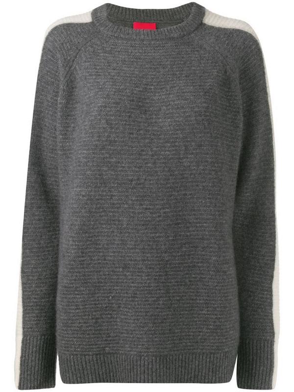 Cashmere In Love Morgan fine knit jumper in grey