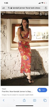 dress,floral dress,kendall jenner