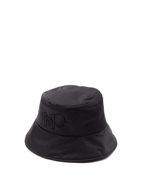 Moncler - Logo-embroidered Bucket Hat - Womens - Black