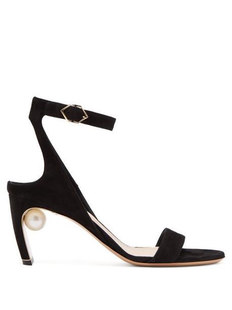 Nicholas Kirkwood - Lola Faux Pearl Suede Sandals - Womens - Black
