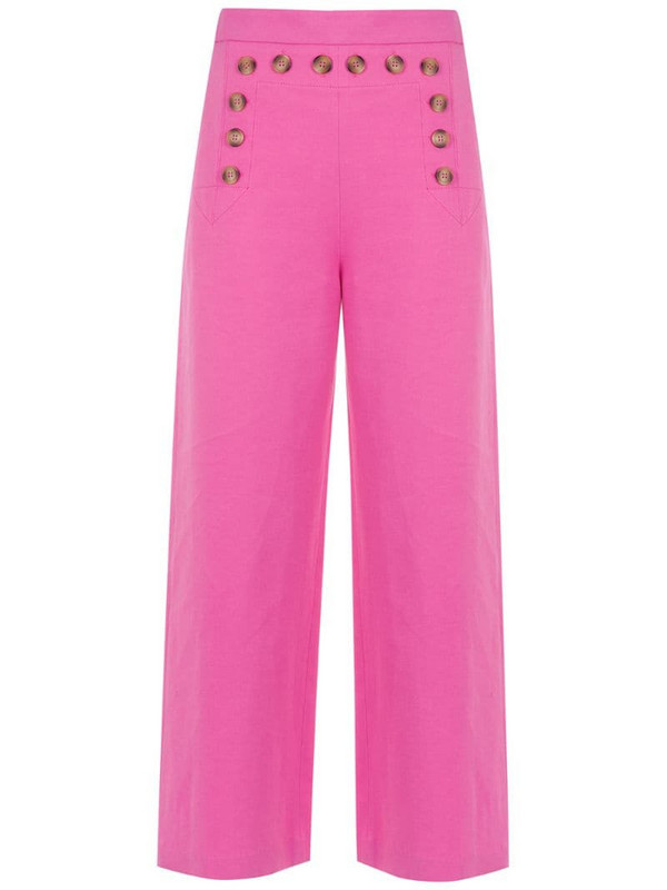 Nk buttoned cropped pants in pink