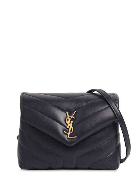 SAINT LAURENT Toy Loulou Monogram Leather Bag in blue