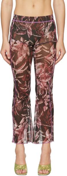 AVAVAV SSENSE Exclusive Black & Pink Apartment Trousers